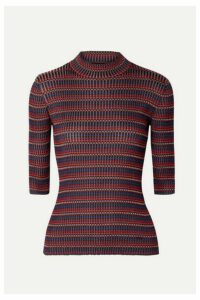 Akris - Striped Mulberry Silk Sweater - Red