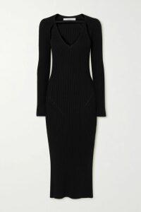 GANNI - Neon Checked Cotton-blend Seersucker Top - Green