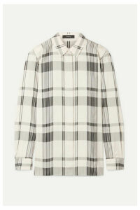 Theory - Checked Jacquard Shirt - Ivory