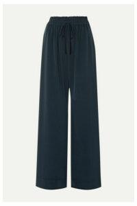 Co - Crepe Wide-leg Pants - Navy