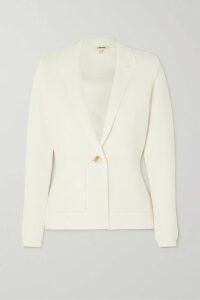 Emilia Wickstead - Ruched Crepe Midi Dress - Blue