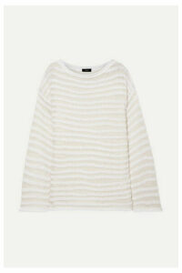 Theory - Open-knit Cotton-blend Sweater - White