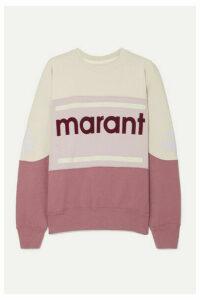 Isabel Marant Étoile - Gallian Flocked Cotton-blend Jersey Sweatshirt - Merlot