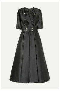 Alexis Mabille - Crystal-embellished Satin Maxi Dress - Black