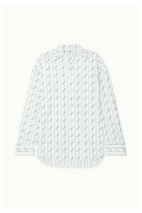 Balenciaga - Oversized Printed Cotton-poplin Shirt - White