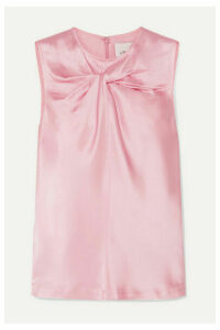 3.1 Phillip Lim - Twist-front Satin Top - Pink