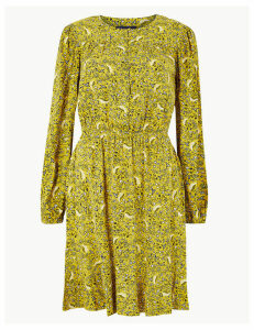 M&S Collection Ditsy Floral Waisted Mini Dress