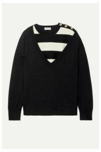 Sonia Rykiel - Layered Striped Wool Sweater - Black