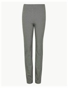 M&S Collection Jersey Herringbone Slim Fit Trousers