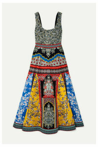 Alice + Olivia - Arya Printed Cotton-blend Maxi Dress - Blue