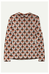 Paco Rabanne - Metallic Jacquard-knit Top - Orange