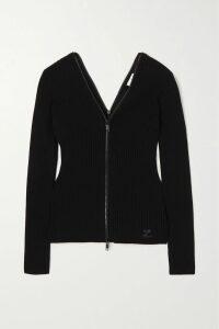 Miu Miu - Camouflage-intarsia Wool Shorts - Army green