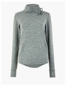 M&S Collection Jaspe Funnel Neck Sweatshirt