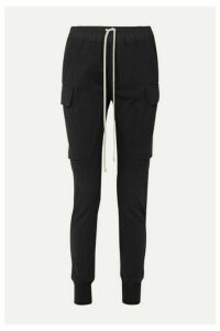 Rick Owens - Poplin-trimmed Cotton-jersey Track Pants - Black