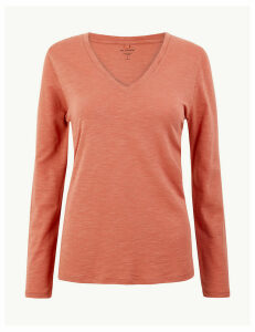 M&S Collection Cotton Rich Straight Fit T-Shirt