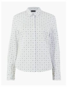M&S Collection Printed Fitted Long Sleeve Shirt