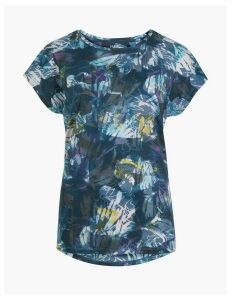 M&S Collection Quick Dry Burnout Print Sport Top