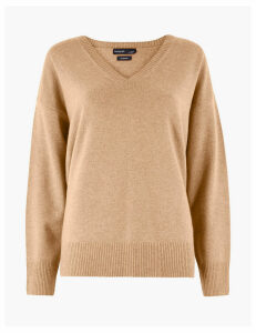 Autograph Pure Cashmere Relaxed V-Neck Jumper