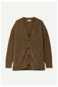 Co - Mélange Merino Wool-blend Cardigan - Chocolate