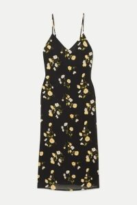 Reformation - Dietrich Floral-print Georgette Midi Dress - Black