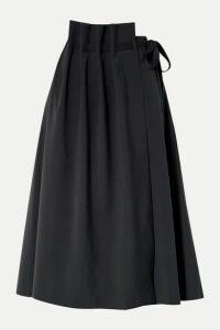 LE 17 SEPTEMBRE - Asymmetric Woven Wrap Skirt - Midnight blue