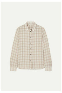 The Row - Jonas Printed Silk Shirt - Beige