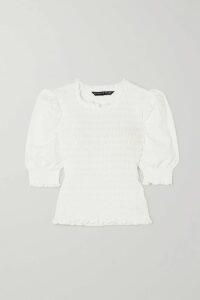 GANNI - Sequined Tulle Mini Dress - Light blue