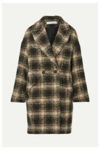 IRO - Karsh Double-breasted Checked Bouclé Coat - Black