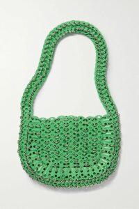 Cult Gaia - Aurel Lace-up Linen Top - Bright orange