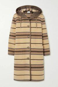 Victoria Beckham - Striped Crepe De Chine Pants - Ivory
