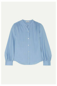 Vince - Stretch-silk Blouse - Blue