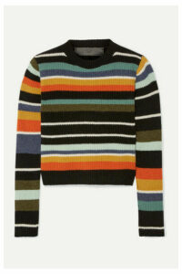 The Elder Statesman - Pomona Striped Ribbed Cashmere Sweater - Blue