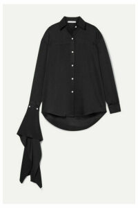 Peter Do - Draped Twill Shirt - Black