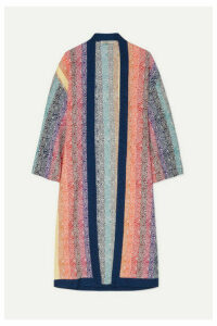 Mary Katrantzou - Sola Glittered Jacquard-knit Cardigan - Pink
