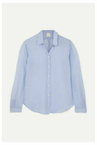 forte forte - Cotton And Silk-blend Voile Shirt - Light blue