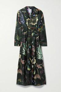 Atlantique Ascoli - Ruched Cotton-poplin Blouse - Blue