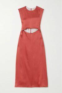 Alice + Olivia - Linoa Jacquard-trimmed Printed Crepe De Chine Kimono - Blue