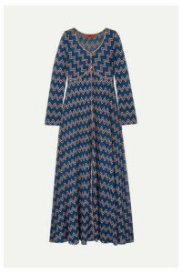Missoni - Embroidered Crochet-knit Cardigan - Navy