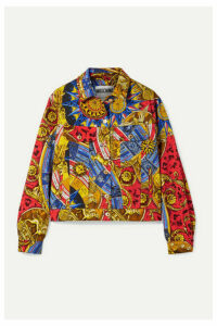 Moschino - Printed Denim Jacket - Red