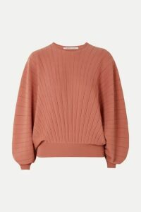 Agnona - Pleated Wool Sweater - Pink