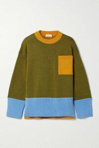 Marni - Printed Silk-twill Tapered Pants - Blue