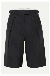 Wright Le Chapelain - Pinstriped Wool Shorts - Navy