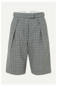 Wright Le Chapelain - Checked Wool Shorts - Navy