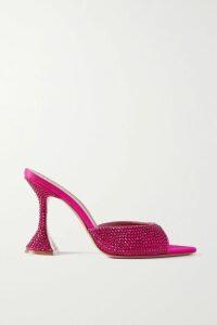 Sies Marjan - Virginia Pintucked Hammered-satin Maxi Dress - Black