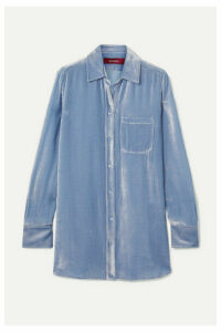 Sies Marjan - Sander Silk And Cotton-blend Corduroy Shirt - Light blue