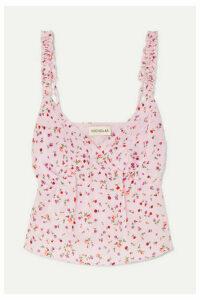 Nicholas - Floral-print Silk Crepe De Chine Top - Pink