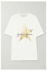 Golden Goose - Oversized Printed Cotton-jersey T-shirt - White