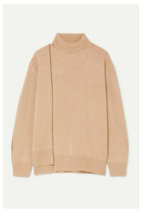 Agnona - Striped Cashmere Turtleneck Sweater - Beige