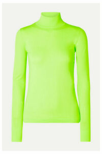 Les Rêveries - Neon Stretch-knit Turtleneck Top - Bright green