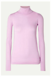 Les Rêveries - Stretch-jersey Turtleneck Top - Lilac
